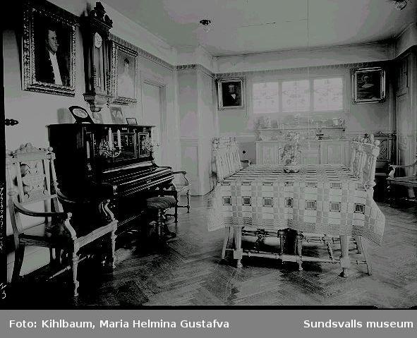 Enligt uppgift borgmästare Olof Leonard Groths hem, interiör. O L Groth (1870-1951) var borgmästare i Sundsvall mellan 1920 och 1948.