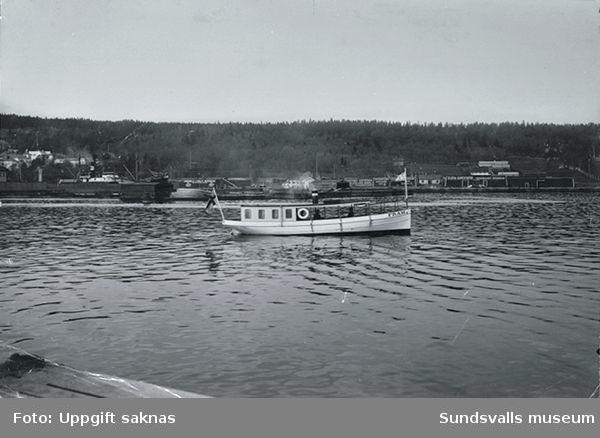 Båten Fram på sundsvallsfjärden