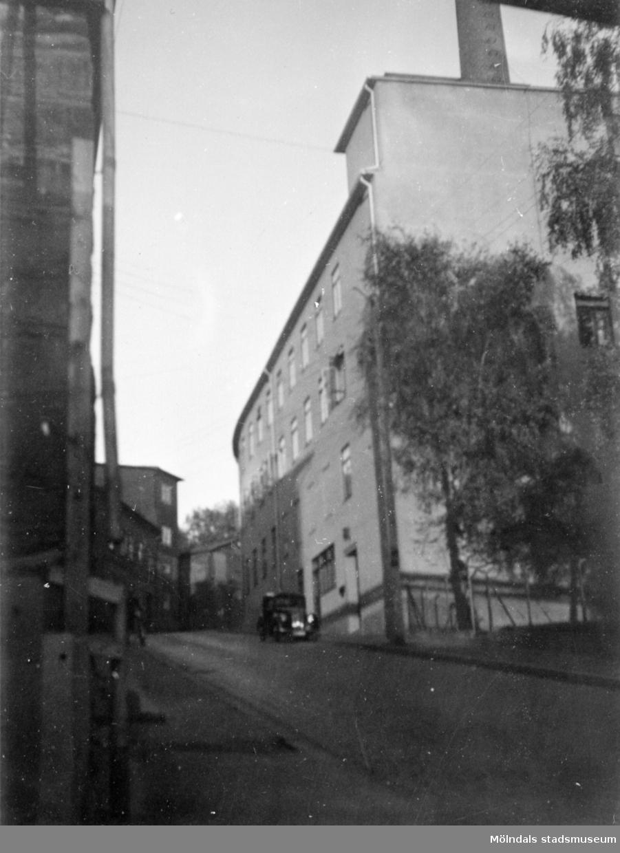 """Viktor Samuelssons strumpfabrik, 1945-1955.  I folkmun kallad """"Strumpan""""."""