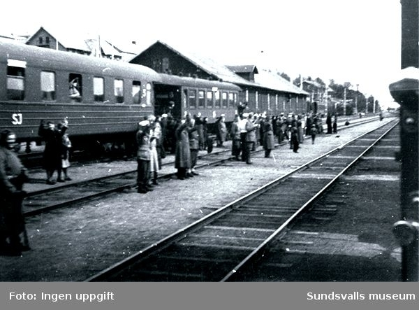 På väg till Trondheim, maj 1945.
