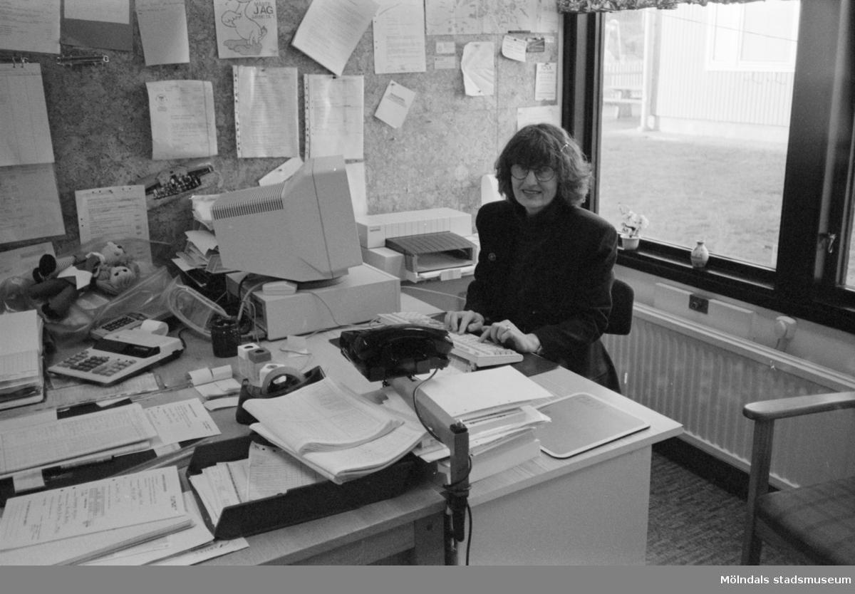 Birgitta Bilting, föreståndare på Katrinebergs daghem, 1992-93.