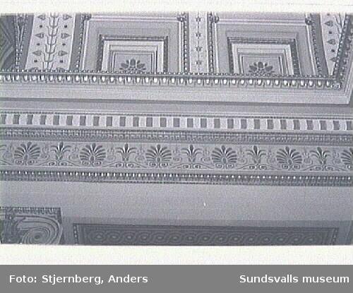 Lunds universitet ritat av Helgo Zettervall 1882 ca. Den assyriska flätan, finns bl a i Sundsvalls stadshus.