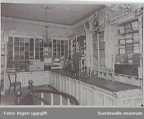 A.G. Dahlmans Garnbod, interiör från butiken.