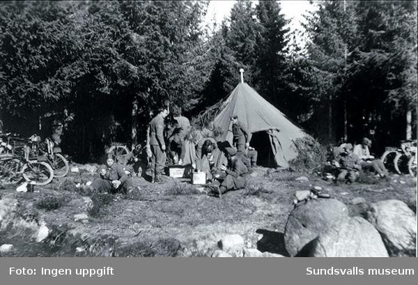 Troligen från den stora manövern i Hälsingland i april 1945.(Jfr 88:53,24)