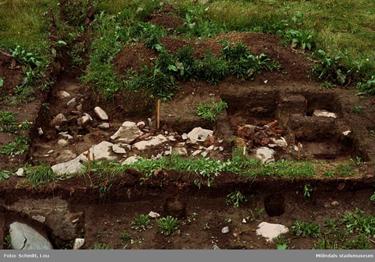 """Köksträdgård """"A"""", arkeologisk utgrävning vid Gunnebo slott, september 1995."""