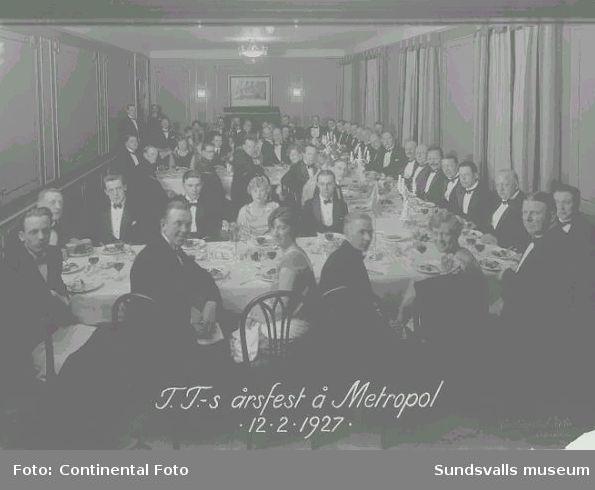TT:s årsfest å Metropol 12.2.1927