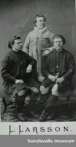 Bröderna Larsson, Anders född 1850, Lars född 1858 och Erik född 1855.