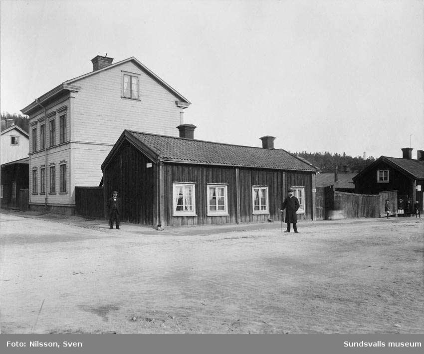 Parti av Skepparegatan, Norrmalm från väster