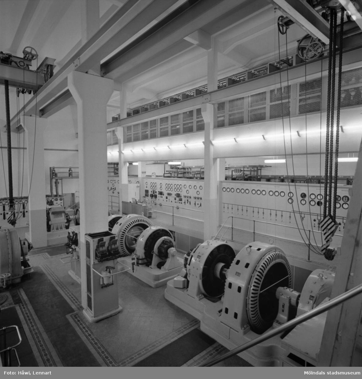 Kraftcentralen, Byggnad 14, på Papyrus i Mölndal, 13/5 1955.