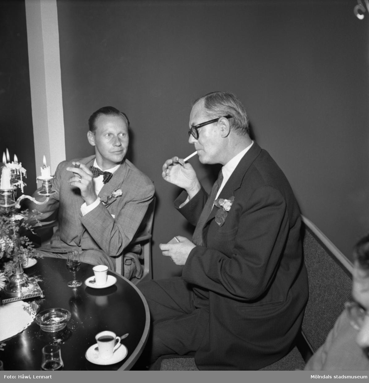 Reportage från Papyrus pressvisning i Mölndal, 29/8 1955.