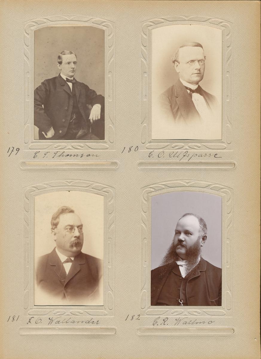 Porträtt av Carl Otto Ulfsparre, postmästare i Härnösand 1874-1899.