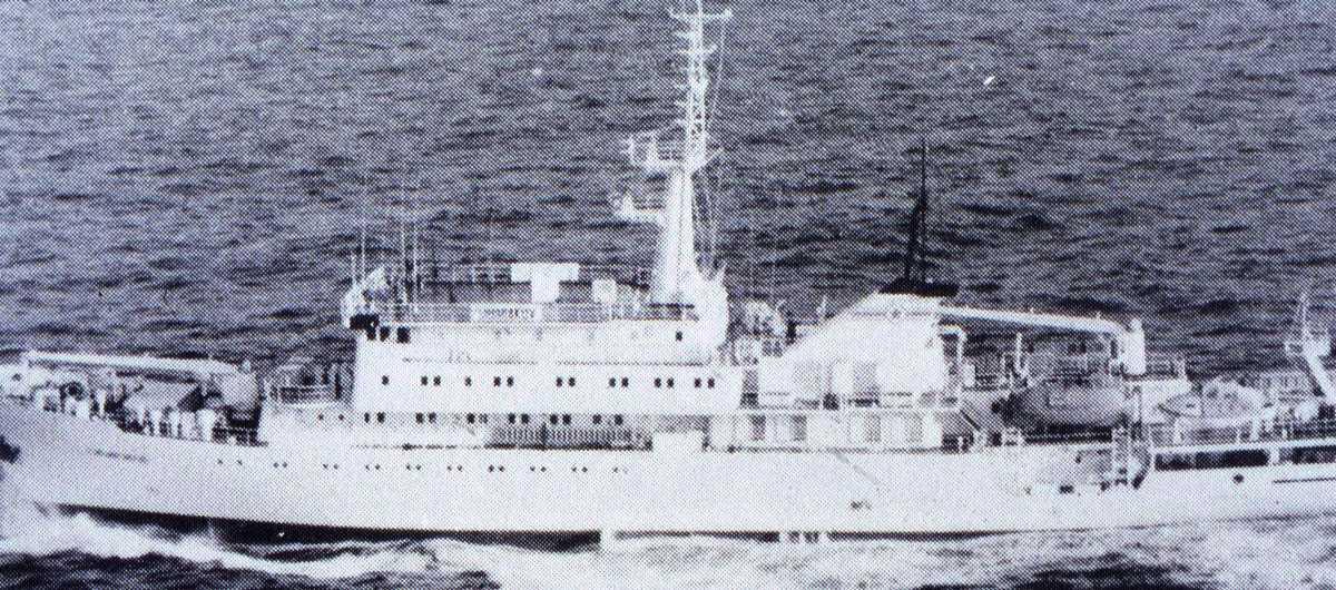Russisk fartøy av Sibiriyakov - klassen (Type 865). Høyst sannsynlig viser bildet Sibiriyakov.
