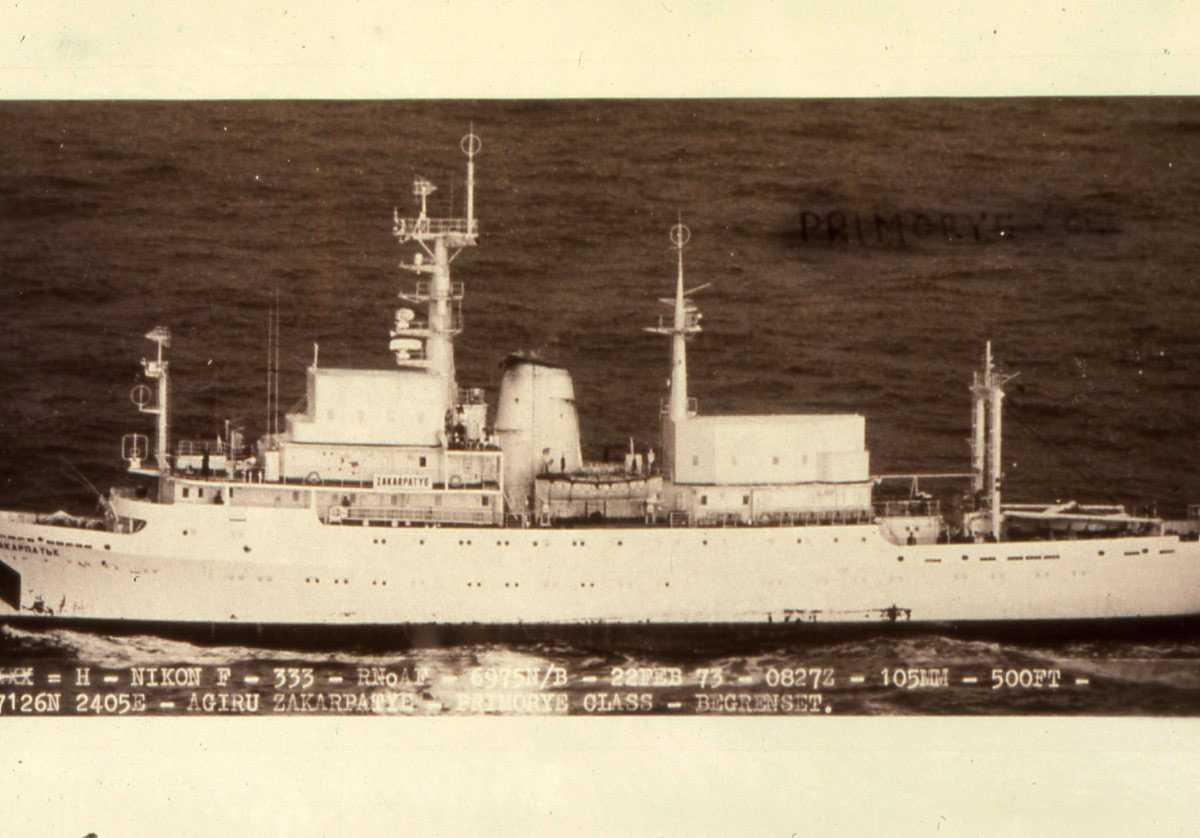 Russisk fartøy av Primorye - klassen med nr. SSV 502 og heter Zakarpatye.