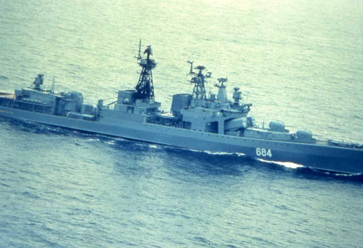 Russisk fartøy av Udaloy - klassen med nr. 684.