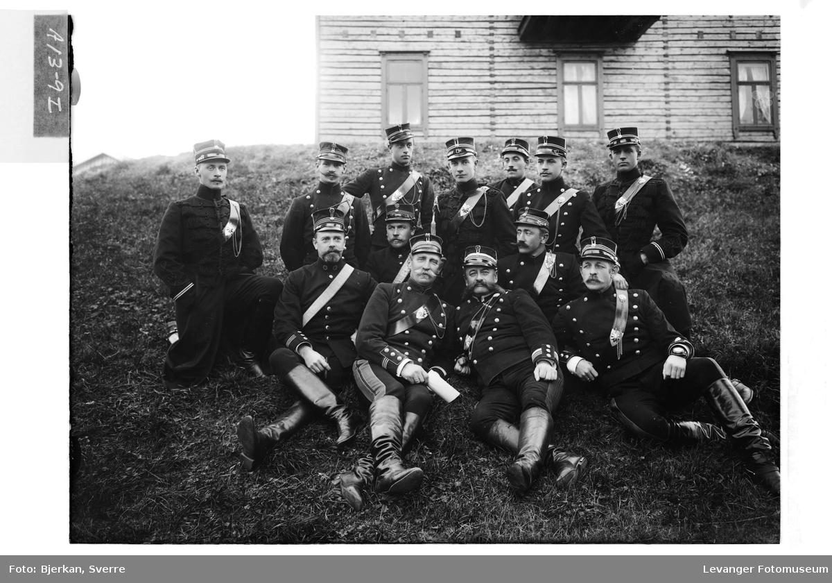 Bilder framilitærøvelsen i Verdal høsten 1905 III