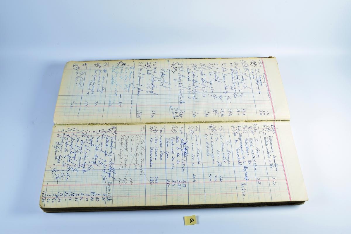 Diverse notatbøker og håndskrevne journaler.  a: Kladdebok dater februar 1963. Inneholder oversikt over resepter.  b: Sprit-, brennevin- og vinjournal fra 1954 til 1966.  c: Giftprotokoll fra desember 1956 til 1959. Bakerst i journalen er det festet en lapp med stempen og segl fra fylkesmannen i Vest-Agder datert den 28. desember 1956, som autoriserer protokollen som en giftprotokoll for Elefantapoteket, Kristiansand S.  d: Udatert, brun notabok med diverse notater og utklipp.  e: Udatert, brun notabok med diverse notater og utklipp.  f: Liten, sort notathefte med notater. to løse ark med notater er lagt ved heftet.
