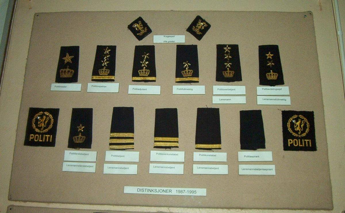 15 politi- distinksjoner.