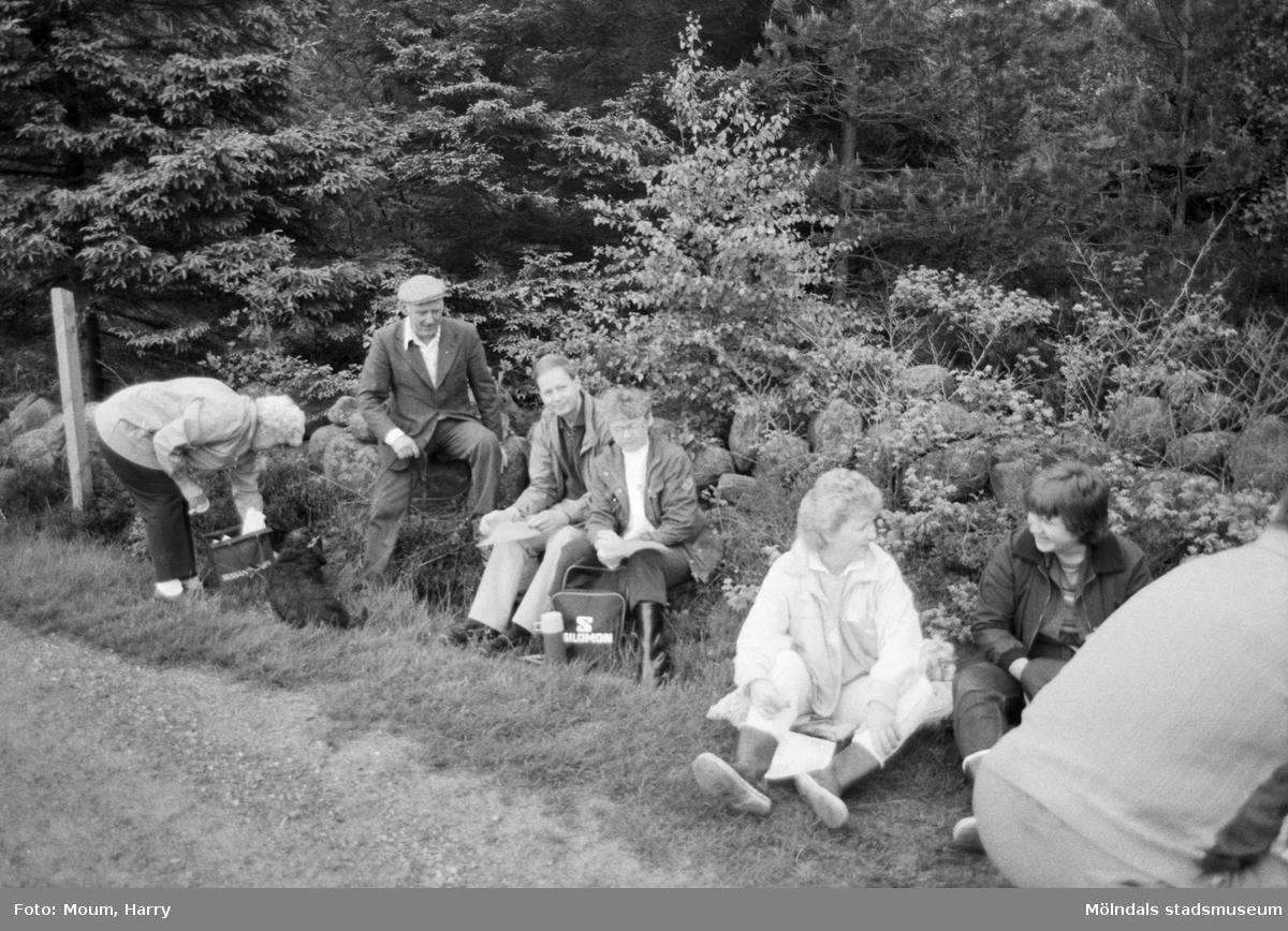 Gökotta i Lindome, år 1984.  För mer information om bilden se under tilläggsinformation.