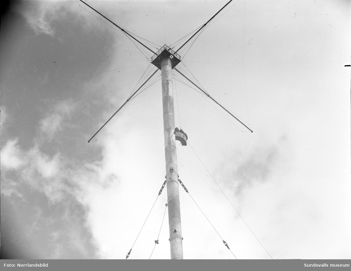 Radiostationen med radiomasterna i Birsta, Skön.