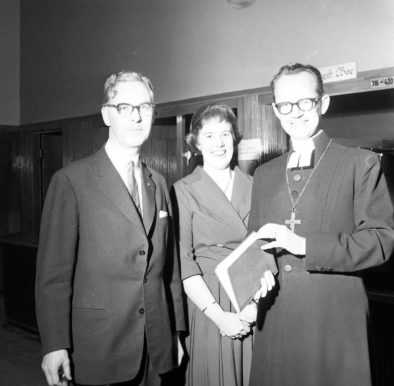 """Enligt notering: """"Biskop Bo Gerts i Folkets-hus 20/1 1961""""."""