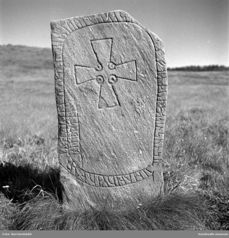 Runsten vid Högoms gravfält.