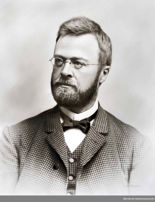 Portrett av baneingeniør Peter R. G. Støren