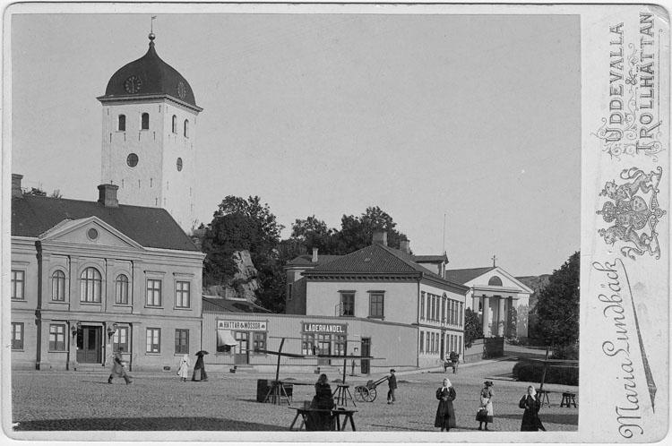 "Enligt text skrivet på kopian: ""Uddevalla. Tornet""."