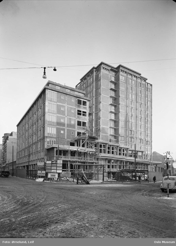 Hotell Viking, byggevirksomhet, stillas