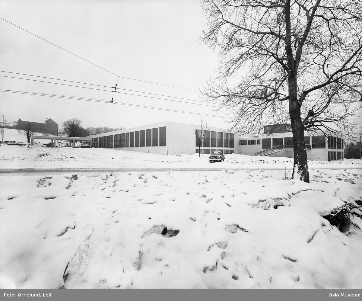 Munchmuseet, snø, Tøyen Trafostasjon
