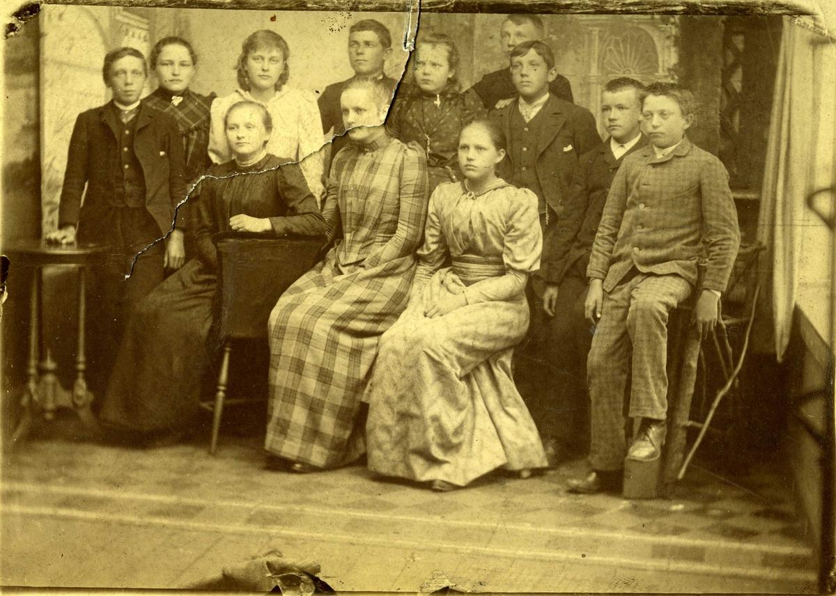 Middelskoleklasse i Haugesund ca. 1891.