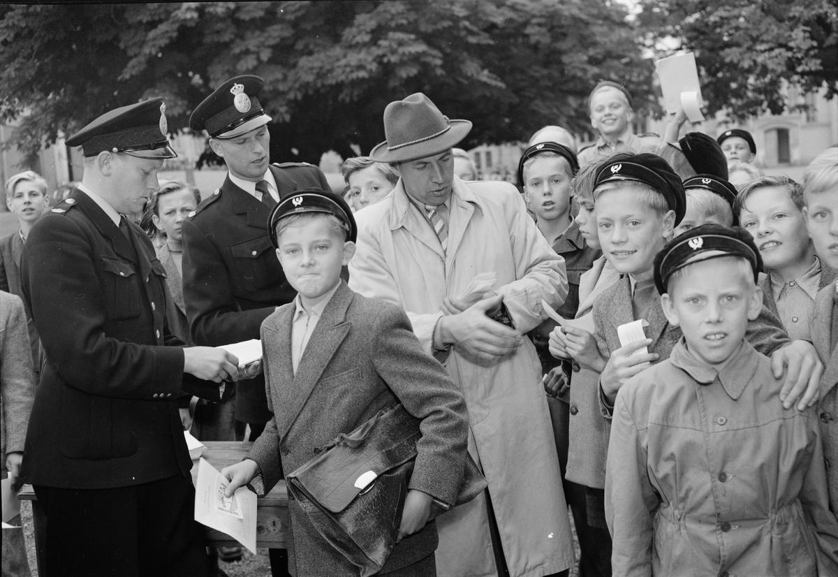 Polisen - trafikundervisning, Uppsala september 1951