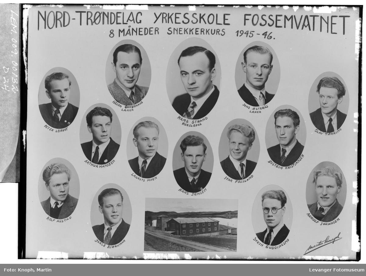 Nord-Trøndelag Yrkesskole,. Snekkerkurs.