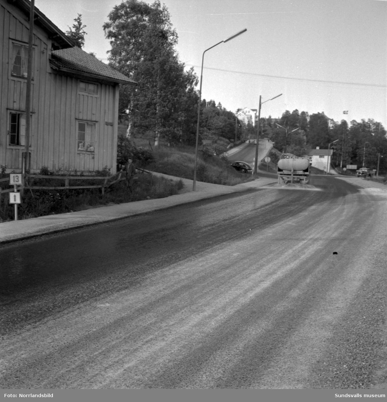 Heffnersvägen i Skönsberg.