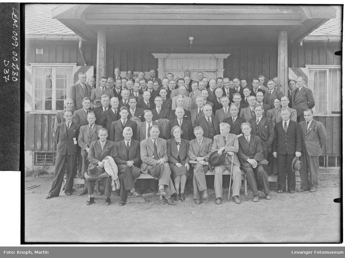 Medlemmer i Nord-Trøndelag Bondeparti samlet