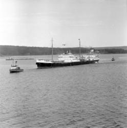 Massor av bilder på tankbåten Katelysia vid Vindskärsvarv. E