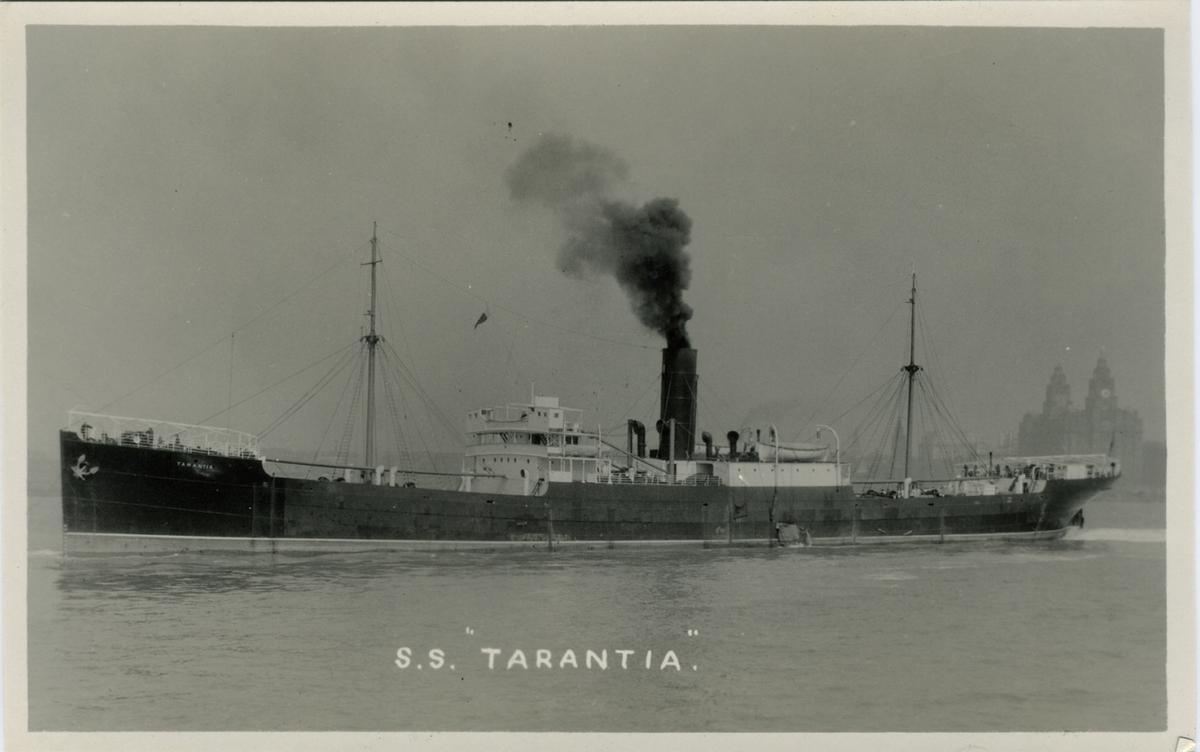 "S.s. ""Tarantia"" Copyright B. & A. Feilden, Blundellsands, Liverpool 23"