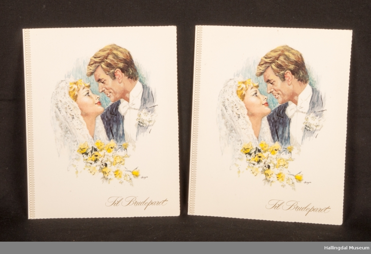 ubrukte gratulasjonskort til bryllup og konfirmasjon