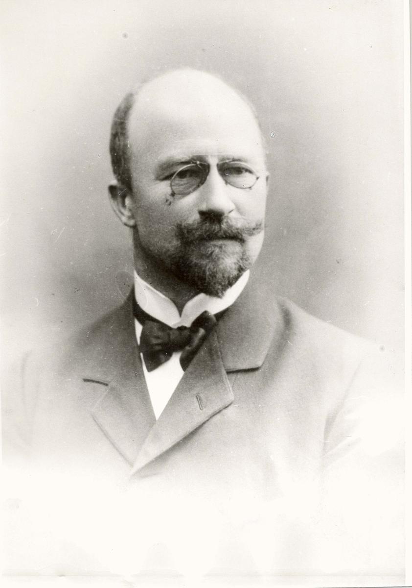 Motiv: Portrett av Rasmussen, Jonas Severin.Telegrafdir.1850-1905.