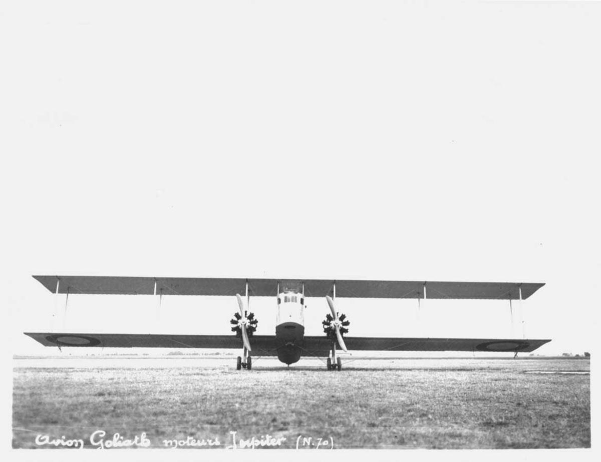 Ett fly på bakken, Farman F.60 Goliath
