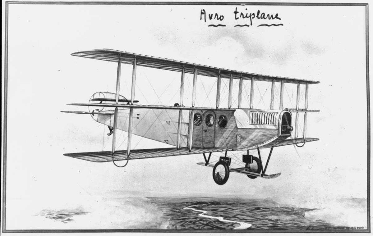 """Ett i lufta, Avro 547 """"Limousine"""""""