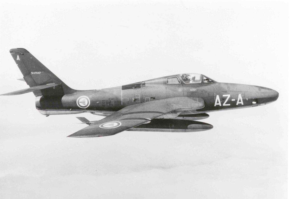 Ett fly i lufta , RF-84F Thunderflash  717 skv. AZ-A