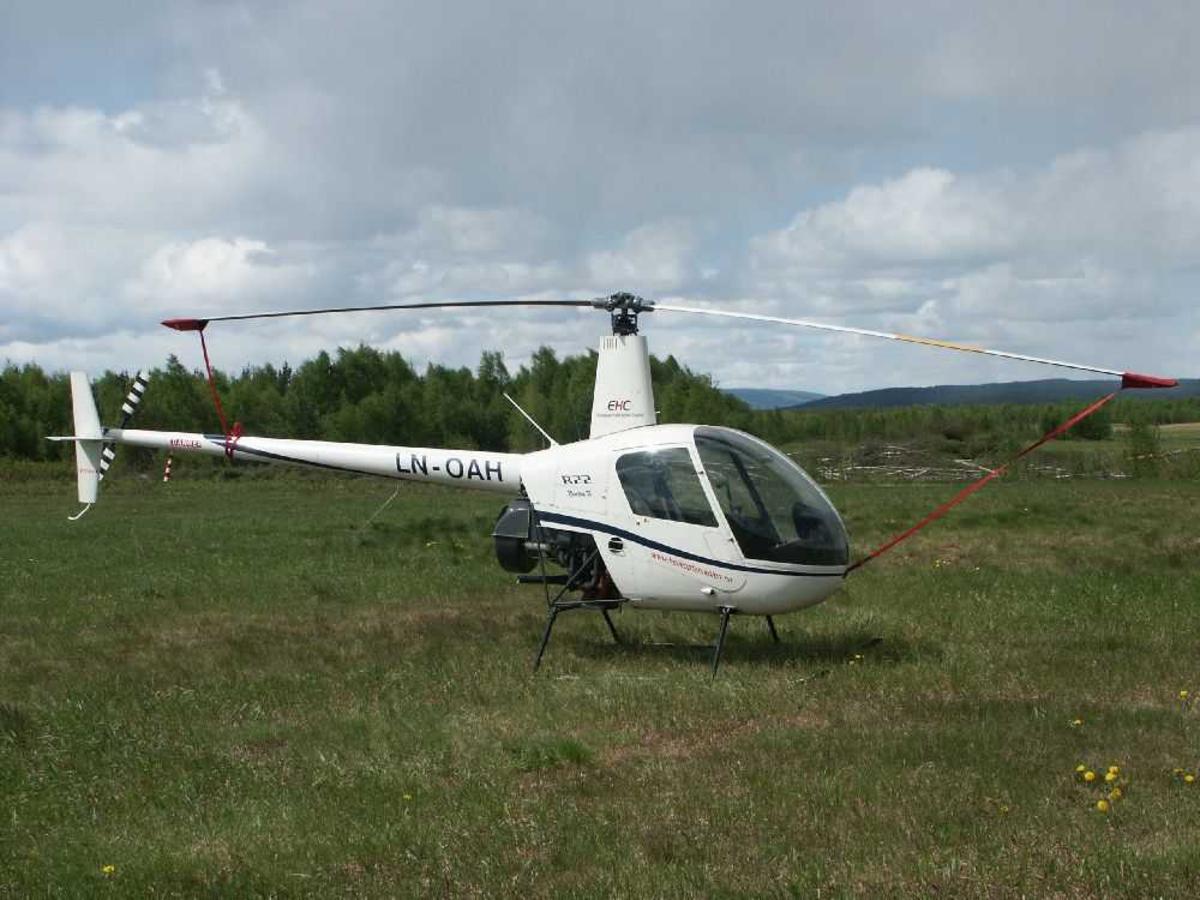 Ett helikopter på bakken, Robinson R-22 Beta II, LN-OAH