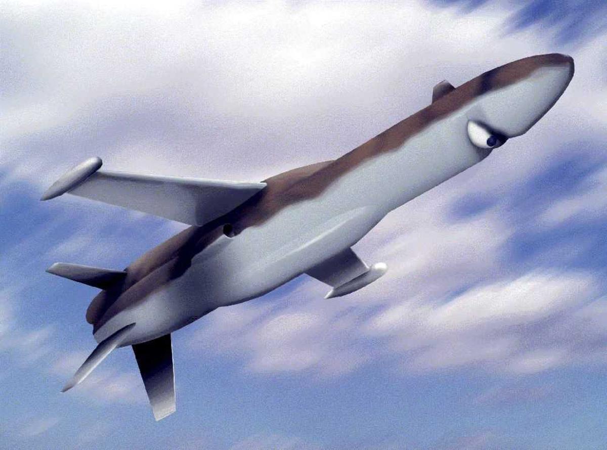 Ett fly i lufta (illustrasjon/tegning) drone.