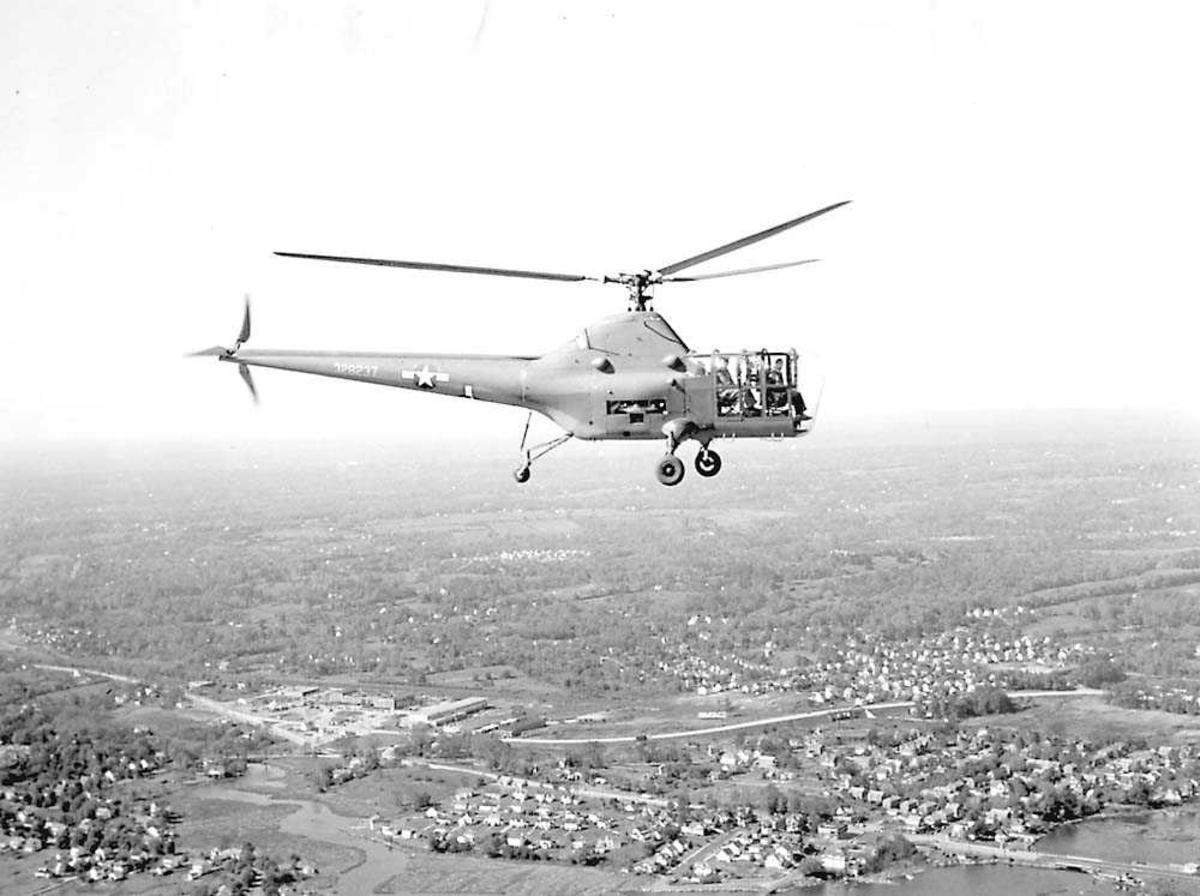 1 helikopter i luften. Sikorsky XR-5.