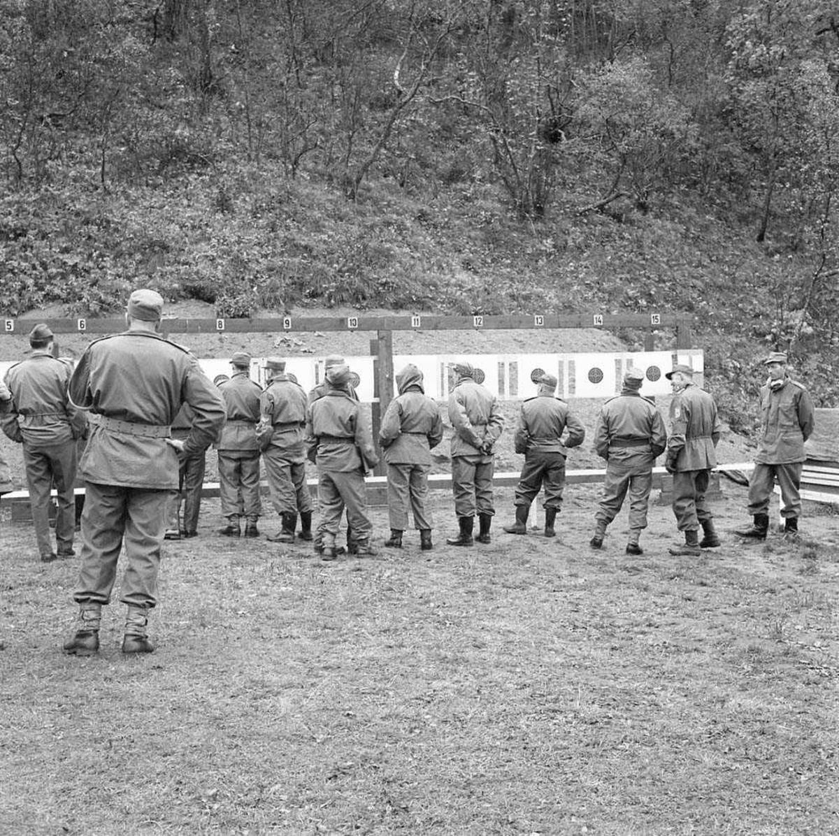 Luftforsvarets mesterskap i pistolskyting på pistolbanen i Bodin leir.