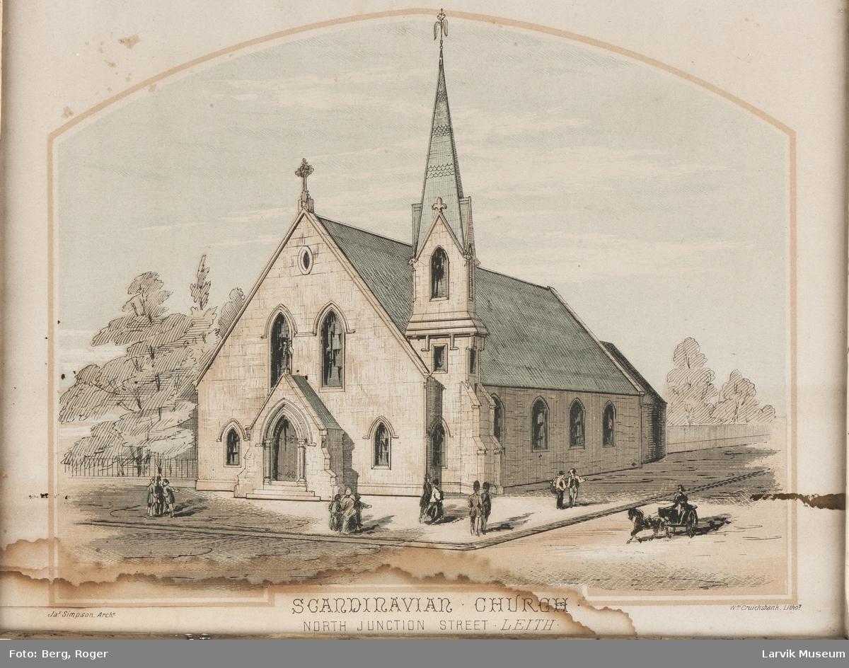 """""""Scandinavian Church"""". North Junction Street, Leith."""