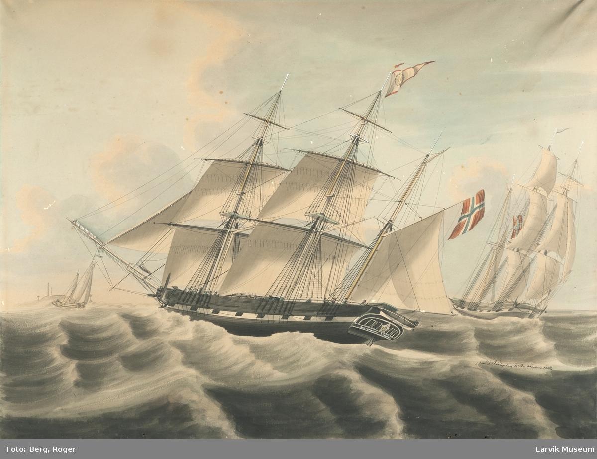 Barken Gustav Wasa av Larvik