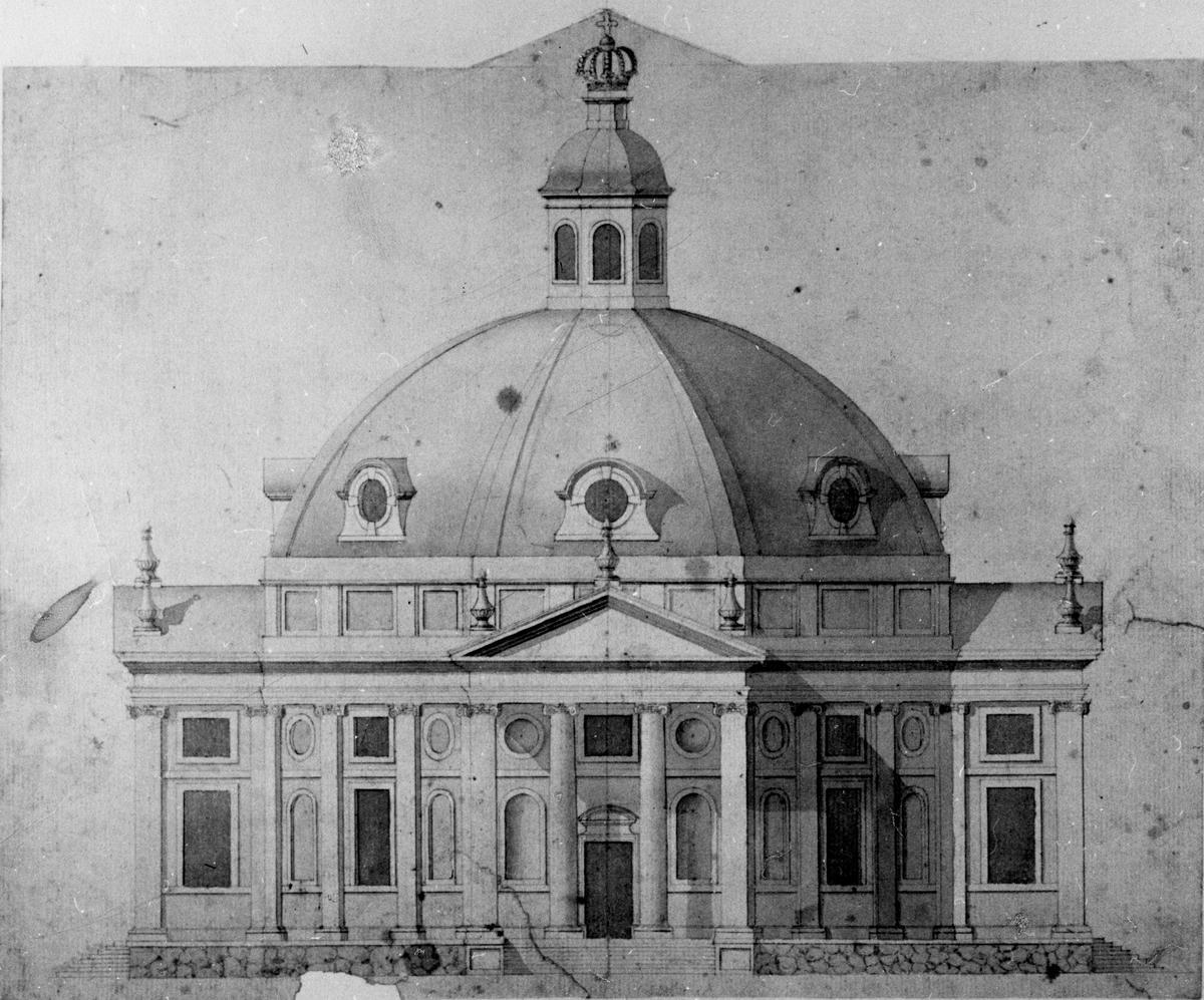 Tyska kyrkan före branden.