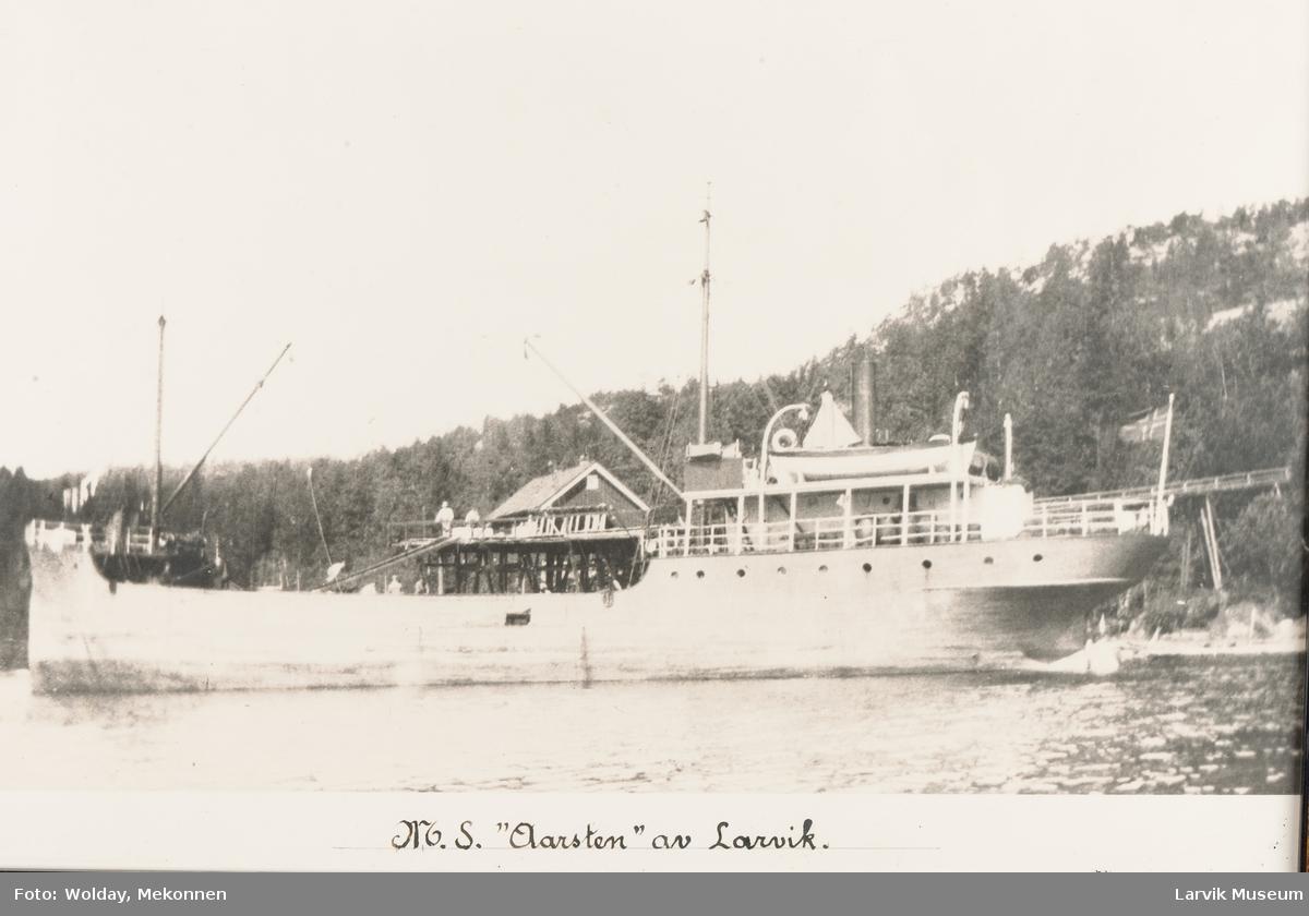 """M.S """"Aarsten"""" av Larvik."""