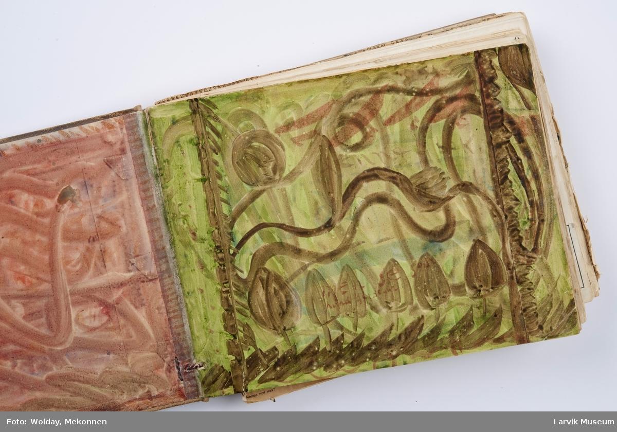 "Lerretsbind 29 x 23 cm for brigg ""Ariel"". 196 beskrevne blad,"